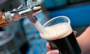 The Cave Craft Beer: 1 Pint for Dine-In, 1 Flight, and 1 Filled Growler for Takeout with Optional Signature Sandwich (Up to 56% Off)