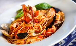 ILLUMINATI RISTORANTE PIZZERIA: Menu di mare con 1 o 2 kg di pasta allo scoglio e vino da Illuminati Ristorante Pizzeria (sconto 64%)