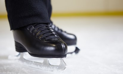 image for $8.25 for an Public Session Admission with Skate Rental for One Person at Long Beach <strong>Ice</strong> Arena ($13 Value)