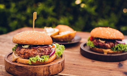 Burger with Wine, Cider or Lager for Two or Four at Kiki