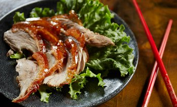 Peking Duck with Soup and Salad
