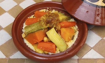 Spécialités tunisiennes avec entrée, plat et dessert au choix pour 2 personnes dès 25 € au restaurant Sidi Bousaid