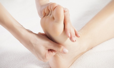 One or Three Leg-and-Foot Stone Massages with Paraffin Foot Wraps at Amasia Skin Care and Spa (Up to 58% Off)