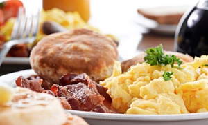 The Classic Cafe: Diner-Style Breakfast for Dinner for Two or Four at The Classic Cafe (42% Off)