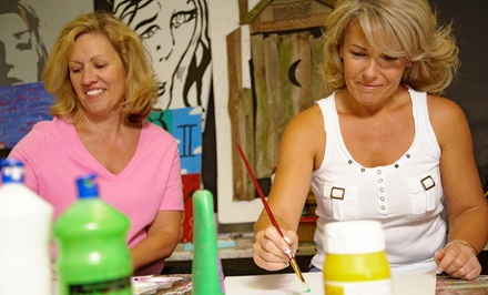 BYOB Painting Class for Two or Four Adults at Bee N' Crafty (Up to 58% Off)
