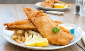 Dhillons Bridge Fisheries: Fish and Chips for Two at Dhillons Bridge Fisheries (45% Off)
