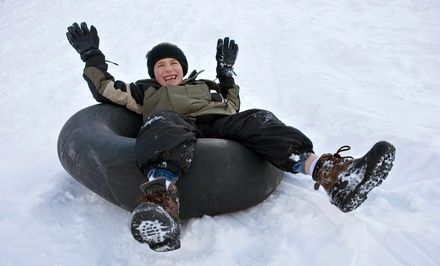 SnowTubing, Hot Cocoa, and Treats for Two or Four People at Valley's Edge (58% Off)