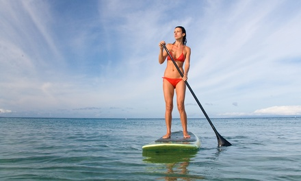 1-Hour Stand-Up Paddleboard Hire for 1 ($15) or 2 People ($29) at Canton Beach Paddleshack (Up to $40 Value)