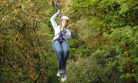 Zipline Ride, Tower Climb, and Lunch for One or Two at Don Strange of Texas (Up to 48% Off)