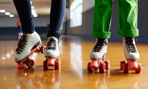 Roller Skating for 2 or Roller Skating for 4 with Popcorn and Soda at Fast Forward Skate Center (Up to 54% Off)
