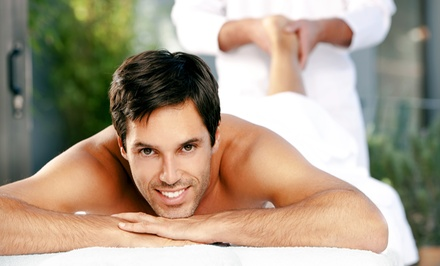 Two-Hour Men's Spa Package with Massage, Facial, Manicure, and Reflexology or Hand and Foot Grooming Services at Zion Spa (Up to 64% Off).