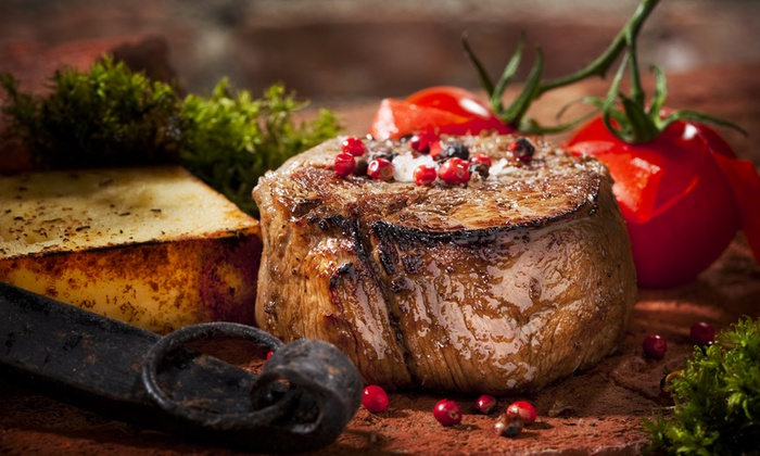 Jaxx Steakhouse - Midway Square: Steakhouse Dinner for Two at Jaxx Steakhouse (Up to 42% Off). Two Options Available.