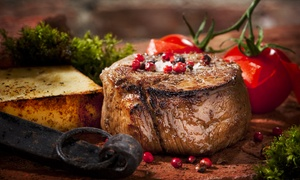 Jaxx Steakhouse: Steakhouse Dinner for Two at Jaxx Steakhouse (Up to 42% Off). Two Options Available.