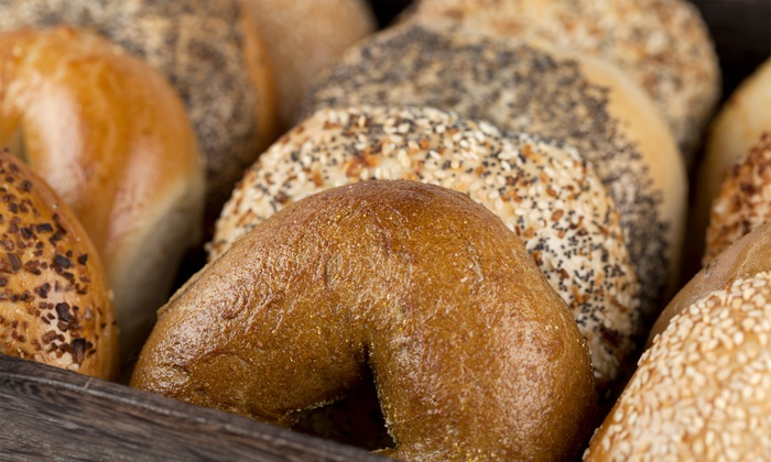 Long Island Bagel Cafe - Stony Brook - Stony Brook: $21.99 for Three Vouchers, Each Good for a Baker's Dozen of Bagels at Long Island Bagel Cafe ($39 Value)