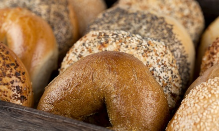 One or Two Dozen Bagels or One or Two Nova Lox Sandwiches at Bagel Club (Up to 45% Off)