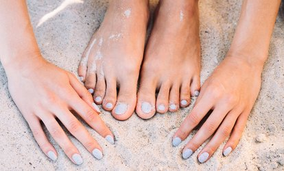 image for Manicure and Pedicure with Soak, Scrub, Lower Leg Massage at Nailz by K (Up to 74% Off). 2 Options Available.