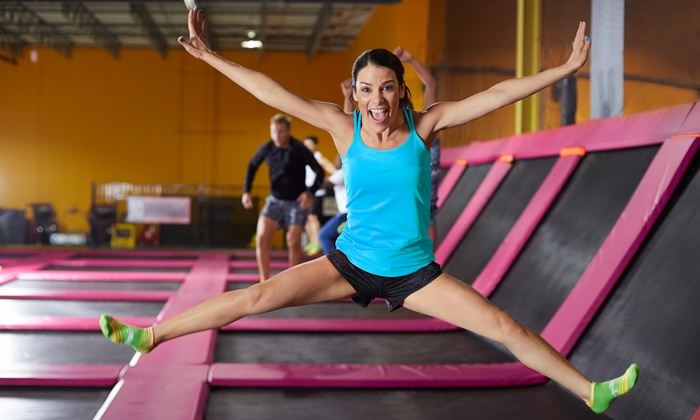 Hang Time Trampoline Park - Victoria: Two Hours of Trampoline Playtime for Two or Four at Hang Time Trampoline Park (Up to 51% Off)