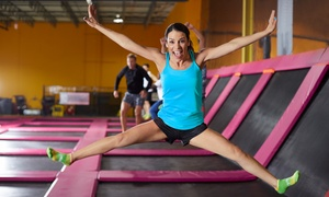 Hang Time Trampoline Park: Two Hours of Trampoline Playtime for Two or Four at Hang Time Trampoline Park (Up to 51% Off)