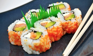 Raku Modern Japanese Cuisine: $16 for $30 Worth of Sushi and Japanese Fusion Cuisine for Dinner at Raku