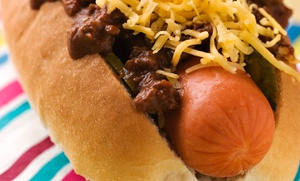 Buddy's Saucy Dogs: Gourmet Hot Dogs for Lunch or Dinner, or Biscuit Sandwiches for Breakfast at Buddy's Saucy Dogs (40% Off)