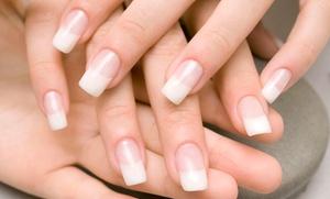 Dedo de Moça Esmalteria: Dedo de Moça Esmalteria – Centro: colocação de acrigel nas unhas da mão (opção de manutenção)