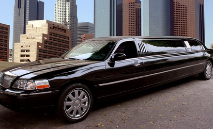 Four-Hour Valentine's Car Service with Champagne or Roses and Chocolates from Crown Limo Kansas (Up to 40% Off)