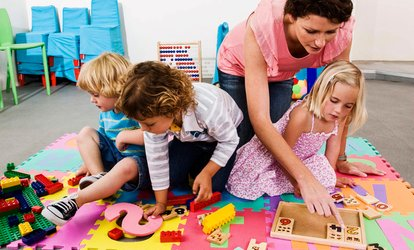image for Five or Ten Hours of Drop-In Child Care at Giggles Drop-In Childcare of Cary (Up to 56% Off)