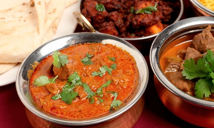 $29 for Indian Dinner for Two with Appetizer, Naan, Entrees, and Drinks at Curry Kitchen (Up to $48.96 Value)
