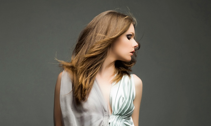 Just For You Salon & Spa - Jessie - Tempe: Haircut with Brazilian Blowout or Partial Highlights at Just For You Salon & Spa - Jessie (Up to 70% Off)