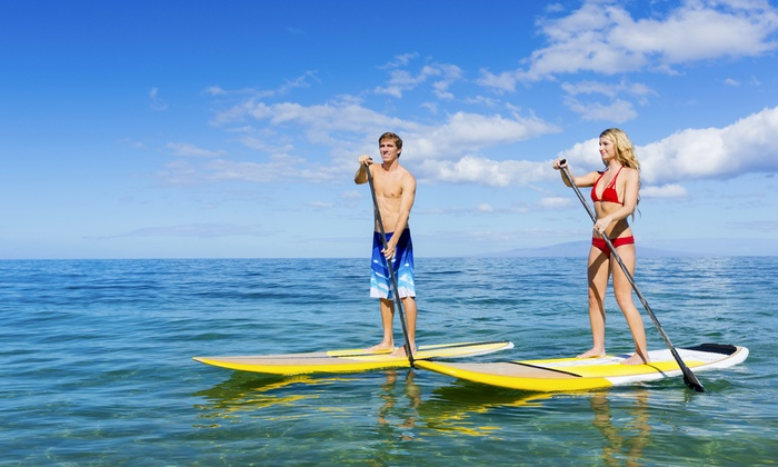 Lakeside Paddle - Lake Worth Boat & Ski Club: Standup-Paddleboarding Package for One, Two, or Four from Lakeside Paddle (Up to 51% Off)