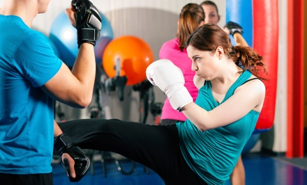 5 or 10 Cardio Kickboxing or Fit for Fighting Classes or Cardio-Go (Up to 86% Off)