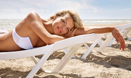 UV Tanning at Galaxy Salon & Spa Hair, Nails and Tanning (Up to 67% Off). Three Options Available.