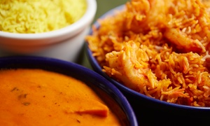 Tiffin: $35 for Indian Dinner with Appetizers, Naan, and Desserts for Two at Tiffin ($60 Value)