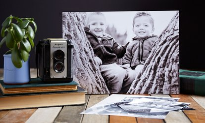 Canvas Print with Stretching in a Choice of Size at Gulf Colour Film Photography (Up to 56% Off)