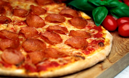 Pizza, Pasta, and Calzones for Dine-In or Takeout at I Love NY Pizza(Up to 50% Off). Three Options Available.
