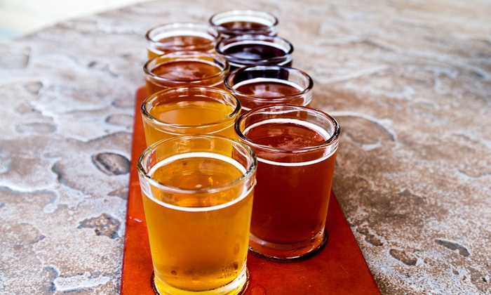 Sleepy Dog Brewery - Casitas East: Beer Flights for Two or Four with Take-Home Six-Packs from Sleepy Dog Brewery (Up to 38% Off)