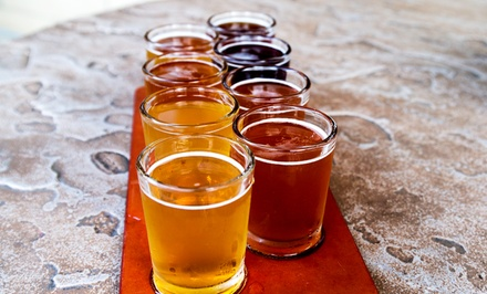 Beer Tasting for Two or Four with Glasses & Flights of Four-Ounce Samples from Sleepy Dog Brewery (Up to 46% Off)