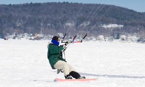 Boost Kiteboarding: One-Hour Intro to Winter Kiteboarding Lesson for One or Two at Boost Kiteboarding (55% Off)