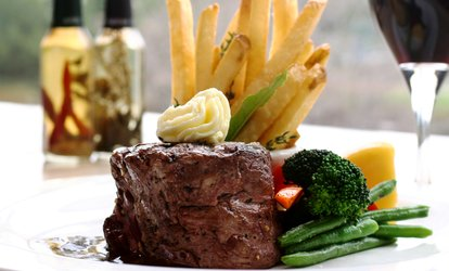 image for Starter and Steak Meal with a Glass of Wine for Two or Four at Square Bar and Grill (Up to 57% Off)