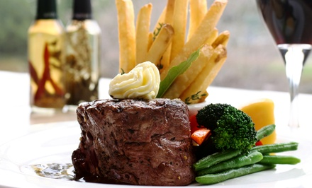 Starter and Steak Meal with a Glass of Wine for Two or Four at Square Bar and Grill (Up to 57% Off)