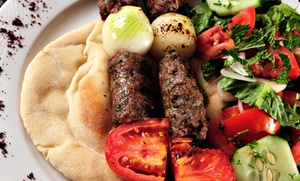 Oliveo Grill: Two Greek Plates or Pita Sandwiches with Fries and Drinks at Oliveo Grill (Up to 38% Off)