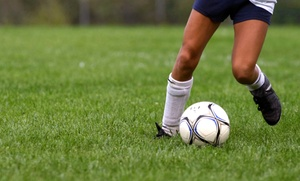 Futbol 5: One-Month Kids' Soccer Clinic with One or Two Sessions per Week at Fútbol 5 (56% Off)