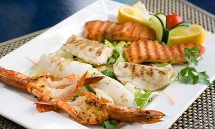 1 kg di grigliata o fritto di pesce e vino
