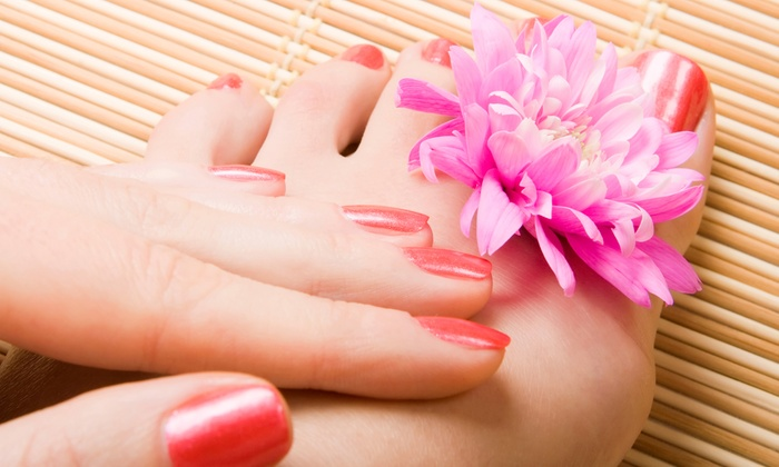 Merle Norman Cosmetic Studio, Salon and Spa -  Genesee Valley Center: $37 for One Classic Mani-Pedi at Merle Norman Cosmetic Studio, Salon and Spa ($58 Value)