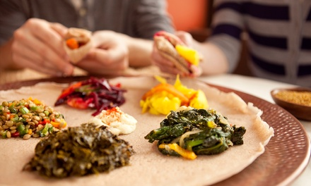 Ethiopian Food at Mesob Ethiopian Restaurant (Up to 45% Off). Two Options Available.