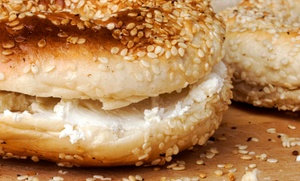 Sam's North Arlington Bagels: One Dozen Bagels and Cream Cheese or $12 for $20 Worth of Bagels at Sam's North Arlington Bagels