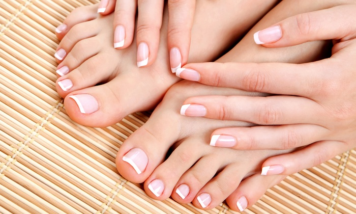 Natural Nails - Ellicott City: Keratin Manicure and Spa Pedicure, or Steam Pedicure at Natural Nails (Up to 51% Off)