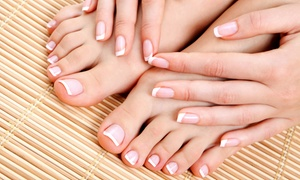 Heads of Time: One or Two Manicures and Deluxe Smooth as Silk Pedicures at Heads of Time (Up to 57% Off)