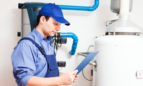 Water Heater Flush and Inspection, Spring Tuneup, or Filter Install from Easy Heating and Air (Up to 72% Off)