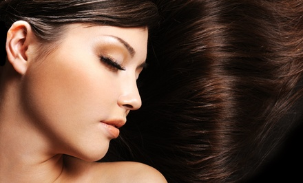 Haircut and Highlights or One or Three Salon Blowouts at Porter & Hudson Salon (Up to 58% Off)
